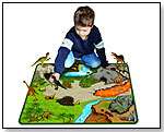Real Relics® Museum Quality Animals with DinoLand 2-Sided Large Playmat by NEAT-OH! INTERNATIONAL LLC