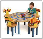 "Room Magic ""Boys Like Trucks"" Table and Chairs set by ROOM MAGIC TEXTILES"
