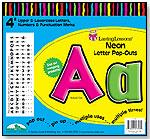 "Neon Letter Pop-Outs 4"" by BARKER CREEK PUBLISHING"