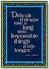 Impossible Things Take Longer Motivational Poster by BARKER CREEK PUBLISHING