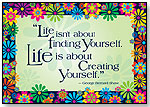 Life is About Creating Yourself Motivational Poster by BARKER CREEK PUBLISHING