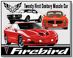 Pontiac Firebird Tribute tin sign collector metal signs by TOY WONDERS INC.