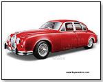 BBurago Gold - 1959 Jaguar Mark II 1:18 scale die-cast collectible model car by TOY WONDERS INC.