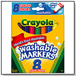 Crayola Washable Markers Broad Point 8 Pack by CRAYOLA LLC