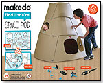 Makedo Find & Make Space Pod - 57 pc by TOYSMITH