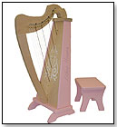 Zither Heaven 15-String Harp - Maple/Pink by ZITHER HEAVEN