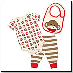 Sock Monkey Layette Set by RASHTI & RASHTI