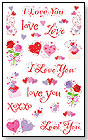 Love Captions Stickers by MRS GROSSMANS PAPER CO