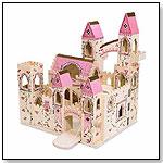 Deluxe Wooden Folding Princess Castle by MELISSA & DOUG