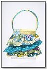 Flower Doodle Ruffle Tote by DOUGLAS CUDDLE TOYS