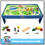 Conductor Carl 80 Piece Wooden Train Set with Table by BRYBELLY HOLDINGS INC.