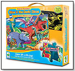Puzzle Doubles Glow In The Dark Dino by THE LEARNING JOURNEY INTERNATIONAL