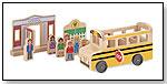Whittle World Wooden School Bus Set by MELISSA & DOUG