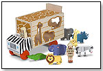 Animal Rescue Shape-Sorting Truck Wooden Toy by MELISSA & DOUG