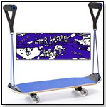 "Krainkn Jr Complete Skateboard ""Blue Swirl"" by KRAINKN SKATEBOARDS"