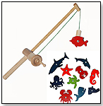 Wooden Fishing Rod & Ocean Set by PURE PLAY TOYS