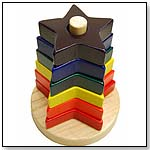 Wooden Star Stacker by PURE PLAY TOYS