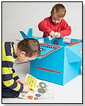 Cardboard Box Airplane Stickers by PAPER BOX PILOTS
