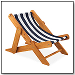 Outdoor Sling Lounger with Navy Stripe Fabric by KIDKRAFT