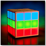 MOBI Cube White Bluetooth Speaker w/ 360° Light Show by MOBI Technologies, Inc.
