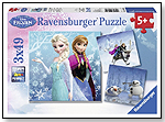 Disney Frozen Puzzle 3x49pc by RAVENSBURGER