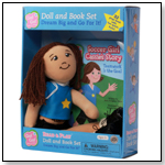 Go! Go! Sports Girls Soccer Girl Cassie Read & Play Doll and Book Set by DREAM BIG TOY COMPANY