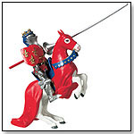 Knight With Red Shield and Horse by SAFARI LTD.®