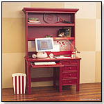 Dick Desk and Hutch – Cherry Red by BRATT DECOR