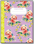 Flower Composition Books - Lavendar Chinese Flower by eeBoo corp.